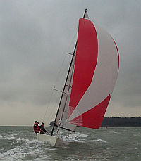 Cowes One Design racing yacht